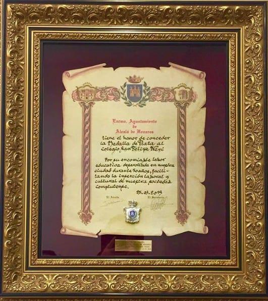 Medalla de Plata para el colegio san Felipe Neri